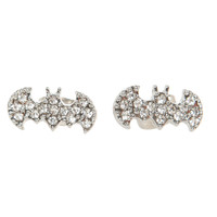 DC Comics Bling Batman Logo Stud Earrings | Hot Topic