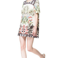 PRINTED SHIFT DRESS - Dresses - Woman - ZARA Singapore