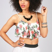 Skulls N Roses Crop Top | Cute Tops at Pink Ice