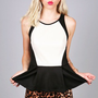 Block Out Peplum Top | Cute Tops at Pink ice