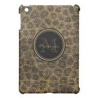Personalized Brown and Gold Snakeskin pattern from Zazzle.com