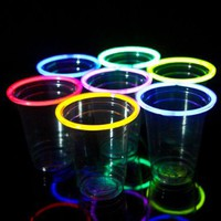 24 Glow Stick Party Cups, 16-18 oz. ...