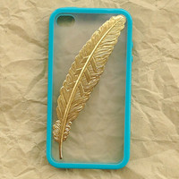 Iphone 4 Case Golden angle Feather white by wesweetlife on Etsy