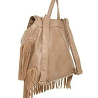 New Look Fringe Back Pack at asos.com