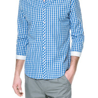 GINGHAM LINEN SHIRT WITH COLLAR - Casual - Shirts - Man - ZARA United States