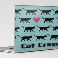 Cat Crazy Laptop &amp; iPad Skin by Paintings by gretzky | Society6