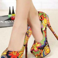 Flower Lido Heel  Shoes from sniksa