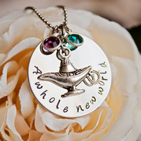 Aladdin inspired A Whole New World by StampedMemoriesbyMel on Etsy