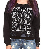 Star Wars Dark Side Slash Girls Pullover Sweatshirt | Hot Topic