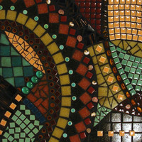 Mosaic art  Earth Tones for Earth Day  CURRENTS  by JillsJoy