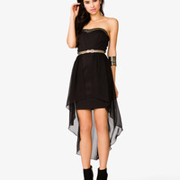 Layered Strapless Scuba Dress