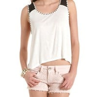 Studded Racerback Hi-Low Tank: Charlotte Russe
