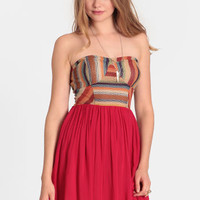 Olvera Street Strapless Dress - $37.00 : ThreadSence, Women's Indie & Bohemian Clothing, Dresses, & Accessories