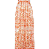 Orange Bandeau Maxi Dress - Day Dresses  - Dress Shop