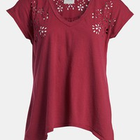 Idlewild 'Burnout Rose' V-Neck Tee | Nordstrom