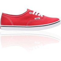 Vans Authentic Lo Pro Red Girls Shoe