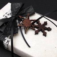 Black Ice  Black and White Damask  Gift by TimberGreenWoods