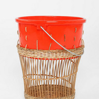 Woven Contrast Top Trash Can