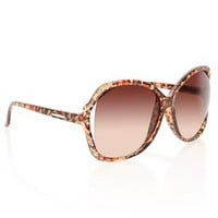 large frame plastic sunglasses with leopard print and stone detail - 1000044759 - debshops.com