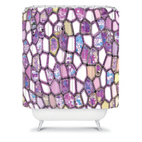 DENY Designs Home Accessories | Ingrid Padilla Violet Cells Shower Curtain