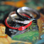 Nora Kogan Jewelry - the year of the snake - Endless Love with Red Enamel