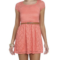 Crochet Lace Belted Dress | Shop Just Arrived at Wet Seal