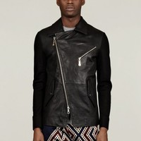 Vivienne Westwood Man Men's Sweat Sleeve Leather Jacket