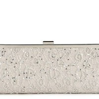 Lulu Townsend Lace Frame Clutch