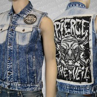 PTV Custom Denim Vest : MerchNOW