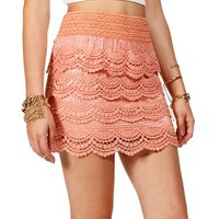 Peach Crochet Skirt