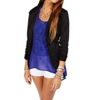 Black 3/4 Knit Blazer