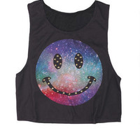 Galaxy Smiley with Studs Tank