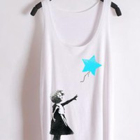 Banksy Blue Star Tank