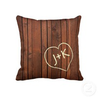Personalized Cherry redwwod with engraved initials from Zazzle.com