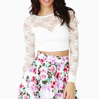 New Bloom Skater Skirt