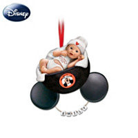 Mickeys Littlest Fan Personalized Babys First Holiday Ornament