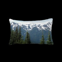 Olympic Mountains Lumbar Pillow from Zazzle.com