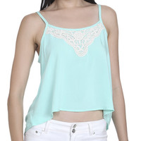 Crochet Trim Challis Tank | Shop Just Arrived at Wet Seal