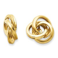 14k Polished Love Knot Earring Jackets