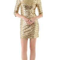 BB Dakota Neva Sequin Fitted Dress | SHOPBOP