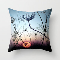  Evening between Chaos Throw Pillow by Unaciertamirada