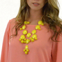 Hang The Sun Teardrop Yellow Necklace Set