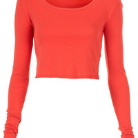 Long Sleeve Crop Tee - Topshop USA