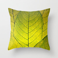 Every Leaf a Flower Throw Pillow by RDelean