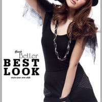 New Womens Stylish Puff Tulle Shoulder Black Mini Dresses
