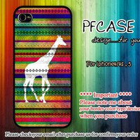 Giraffe on aztec : For Iphone 4/4s ,5 / Samsung S2,S3,S4