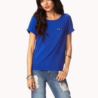 Essential Studded Pocket Tee