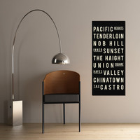 Subway Art SAN FRANCISCO Typography Print by GoingUnderground