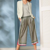 Wide-leg Crop Pant