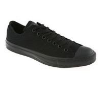 Converse ALL STAR OX LOW BLACK MONO CANVAS EXCLUSIVE Shoes - Converse Trainers - Office Shoes